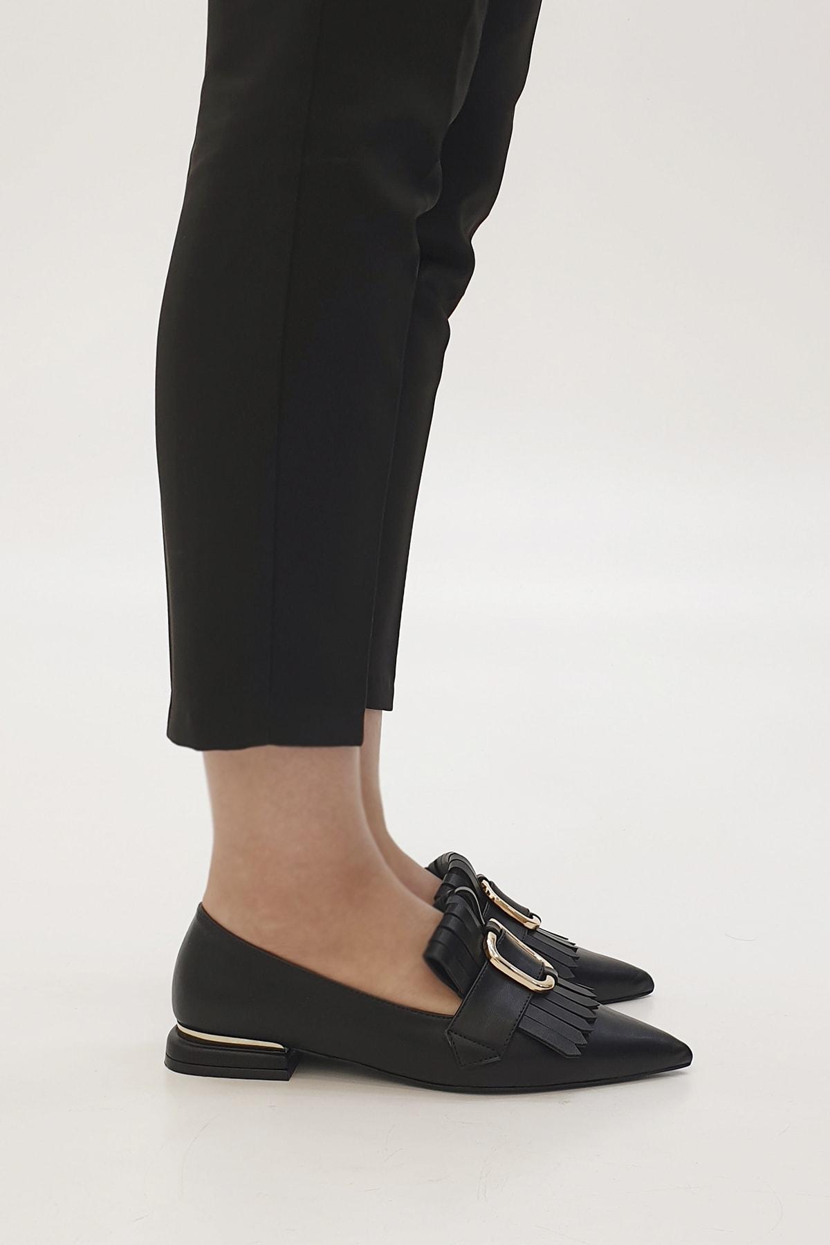 Marjin Siyah Kadın Novle Klasik Topuklu Ayakkabı 20Y0016RB2427 1