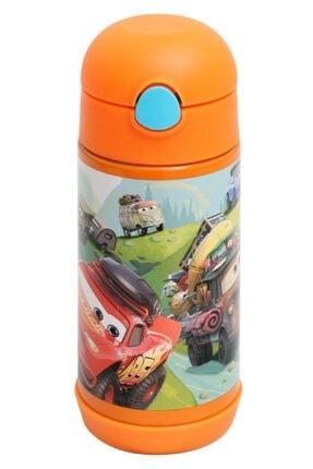 Frocx Disney Cars 350 Ml Turuncu Çelik Matara/suluk- Erkek Çocuk