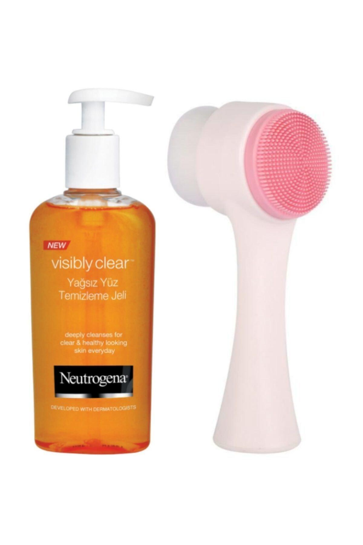 Neutrogena Visibly Clear Sivilce Karşıtı Cilt Temizleme Jeli ve Fluweel Cilt Temizleme Fırçası 1