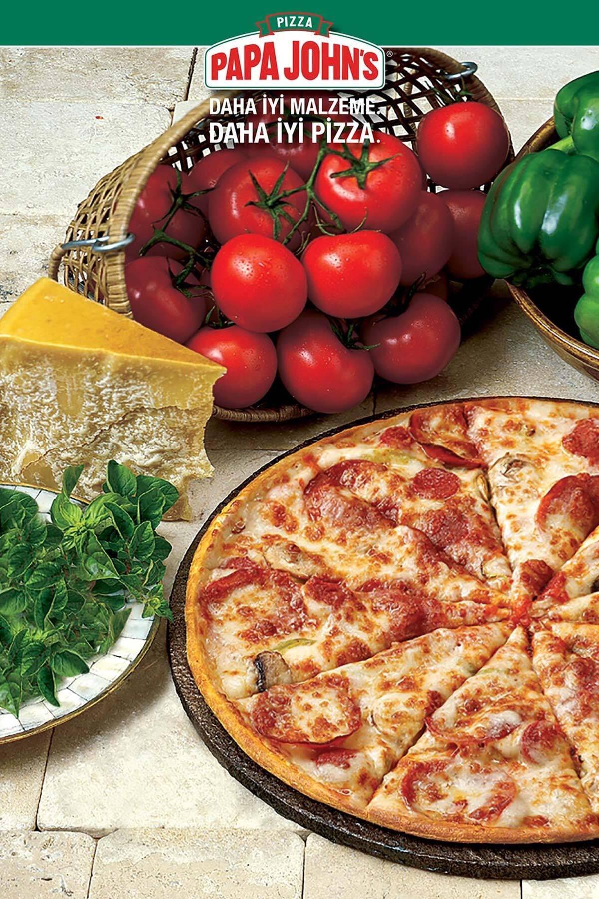 Papa John's Pizza Kuponu  Pizza  Kanka Büyük Boy