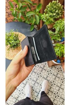 Visso leather Unisex Siyah Kartlık