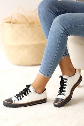 Pembe Potin Kadın Beyaz Nubuk Casual Ayakkabı