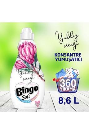 Bingo Soft Konsantre Çamaşır Yumuşatıcısı Yıldız Çiçeği 1440 Ml Ekonomi Paketi 6'lı