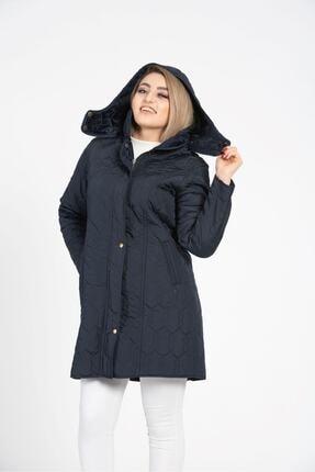 Tuva Tekstil Kadın Lacviert Kapitone Mont