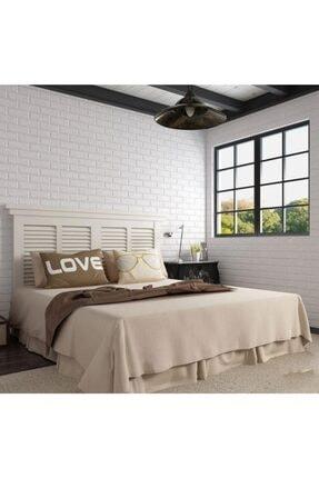 Renkli Duvarlar Kendinden Yapışkanlı Sünger Beyaz Tuğla 70x77 Cm 6 Adet Duvar Paneli