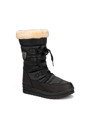 Twingo 995 Siyah Termal Kürklü Kışlık Kadın Karbotu Ayakkabı