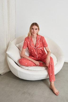 TRENDYOLMİLLA Puantiyeli Örme Pijama Takımı THMAW21PT0295
