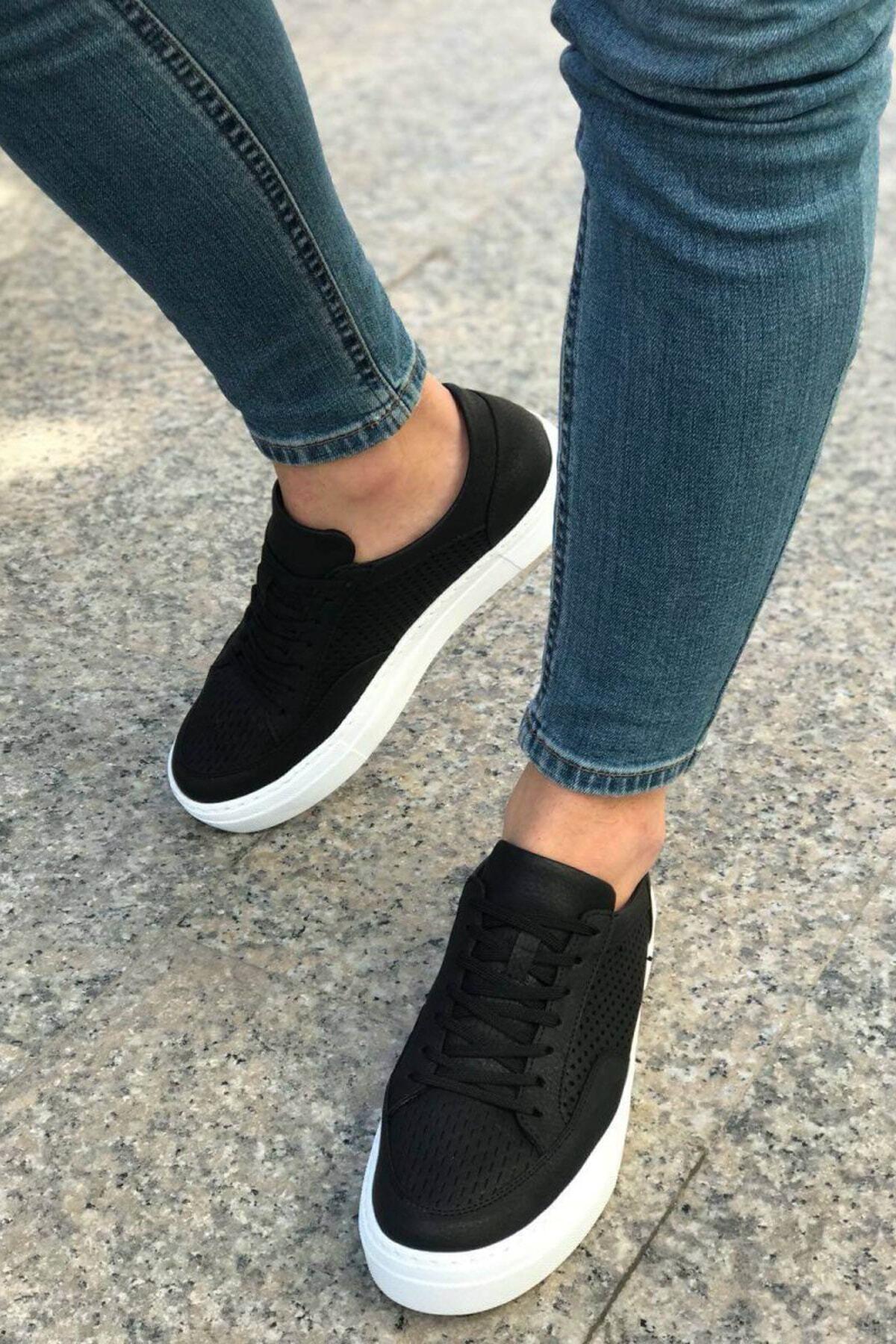Chekich Siyah Beyaz Erkek Spor Ayakkabı CH015 2