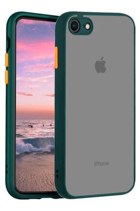 Apple Iphone 7 Kılıf Şeffaf Mat Kamera Köşe Korumalı Pürüzsüz Sert