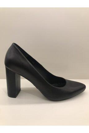 İnci Kadın Siyah Kalın Topuklu Ayakkabı