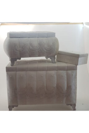 Kırçova Tekstil Şura Sena 3'lü Çeyiz Sandığı
