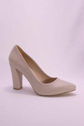 Eldora Shoes Kadın Bej Topuklu Ayakkabı