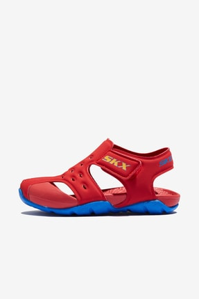 SKECHERS 92330 N Side Wave Kırmızı Erkek Çocuk Sandalet