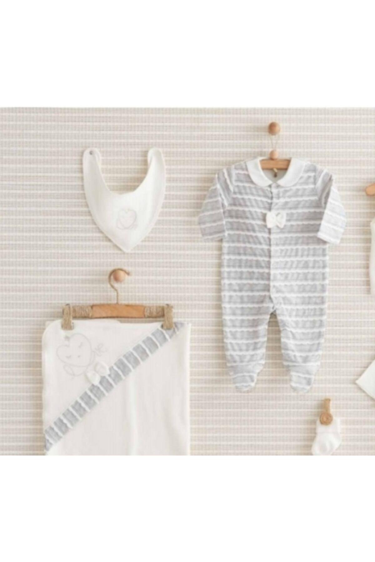 Bebbek Kalpli Beyaz 10 Lu Hastahane Çıkış Seti 2