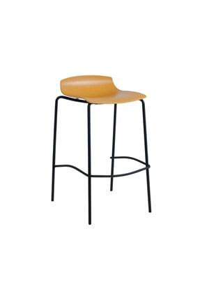 Papatya X-treme Bss Pro Bar Sandalyesi Otel Kafe Restoran Mutfak Koyu Sarı- Siyah