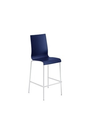 Papatya Icon-b Bar Sandalyesi Otel Kafe Mutfak Restoran Lacivert - Beyaz