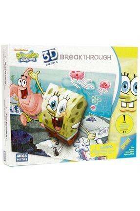 Mega Puzzles Mega Puzzle 110 Parça 3 Boyutlu Puzzle Breakthrough Sponge Bob 1