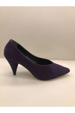 İnci Kadın Mor Topuklu Ayakkabı