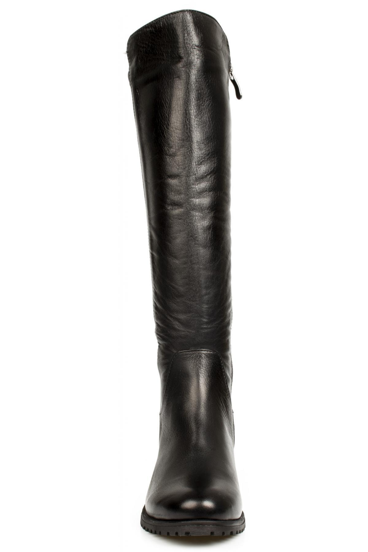 Mammamia Kadın Siyah Deri Çizme D20kc-2040 1