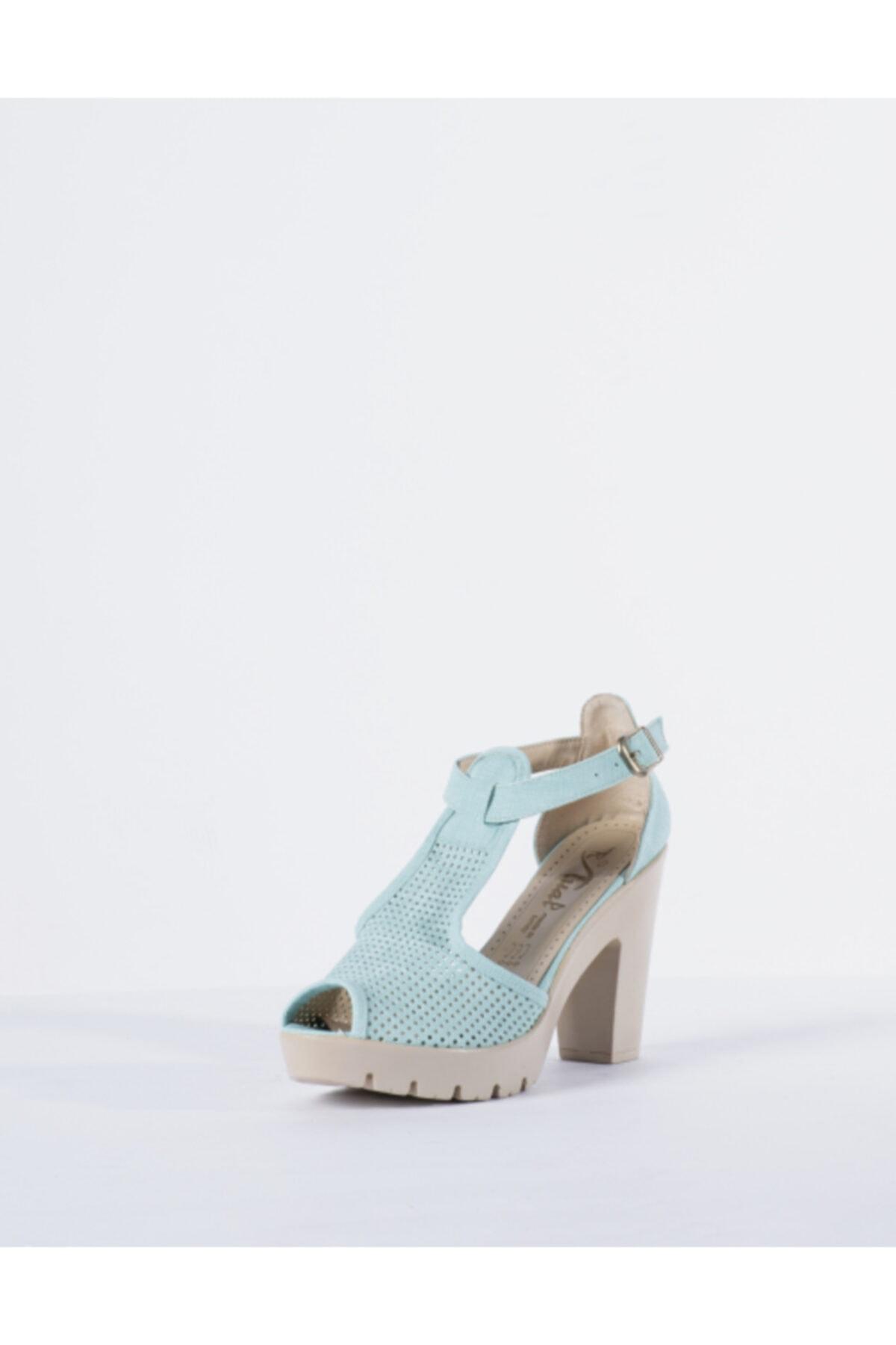 Vision Kadın Yeşil Topuklu Ayakkabı 2