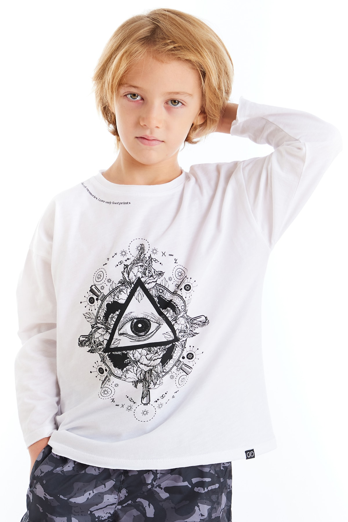 Colorinas Kız Çocuk Beyaz Baskılı Tshirt 2