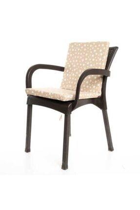 MERTİM Mer-tim Bej Yıldız Desenli Sandalye Minderi 1 Adet