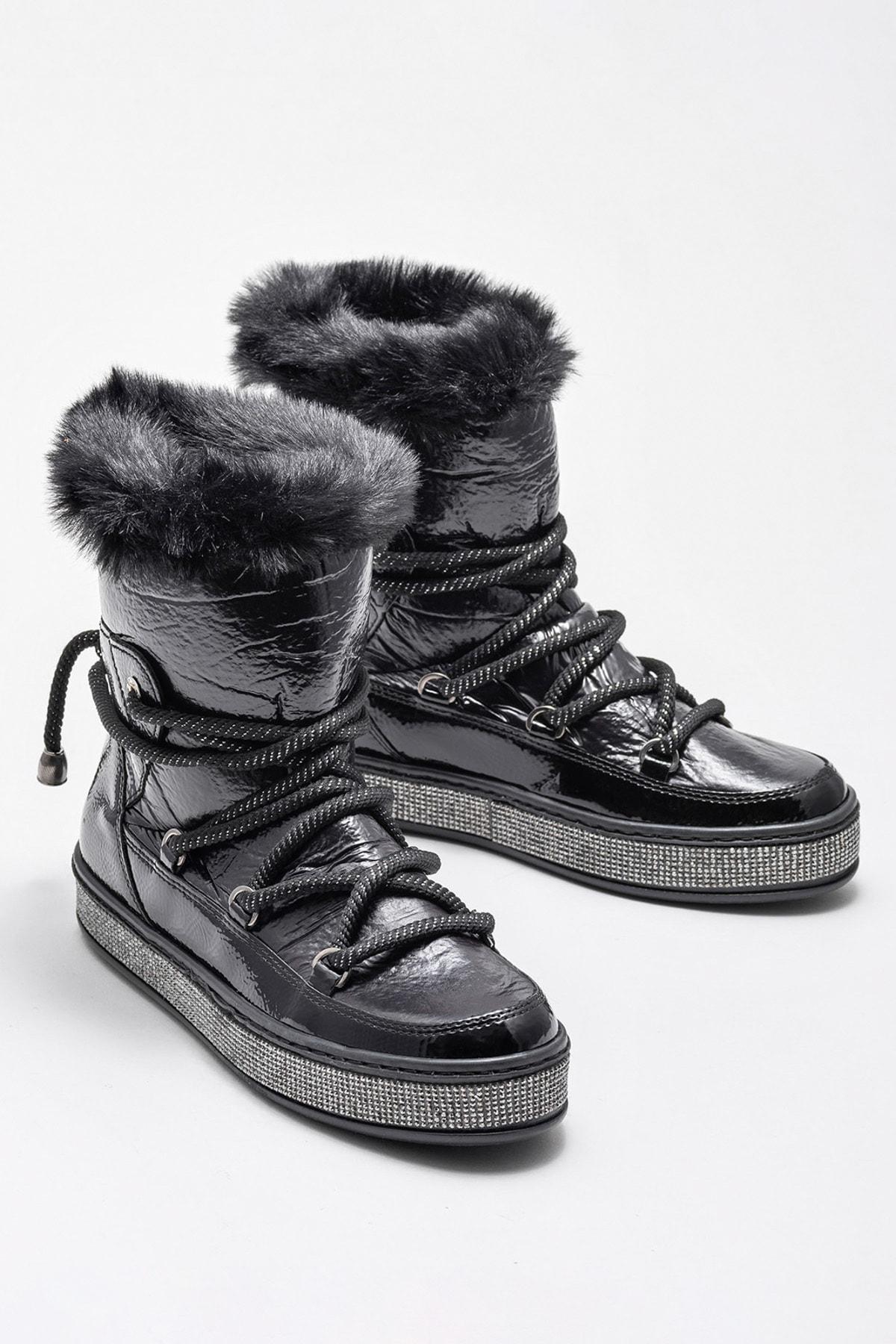 Elle Shoes ROSSELLEE Siyah Kadın Bot 2
