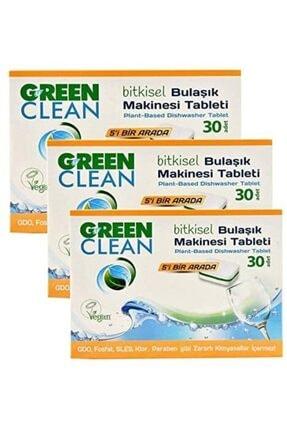 Green Clean Bitkisel Bulaşık Makinesi Tableti 30'lu X 3 Adet