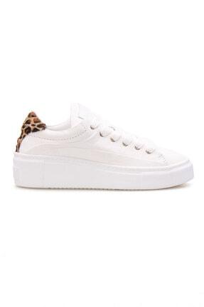 Pegia Kadın Beyaz Hakiki Deri  Sneaker Ayakkabı La1604