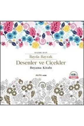 Alfa Yayınları Desenler Ve Çiçekler Boyama Kitabı