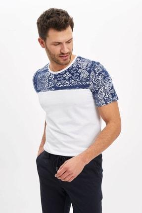 DeFacto Erkek Beyaz Slim Fit T-Shirt M8188AZ.20SP.WT34