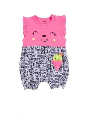 Miniworld Kız Bebek 0-9 Ay Dondurmalı Yazlık Penye Slopet Şort