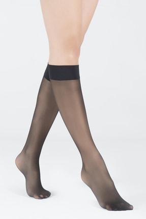Katia&Bony Kadın Siyah Dizaltı Opak 30 Denye Basic Çorap