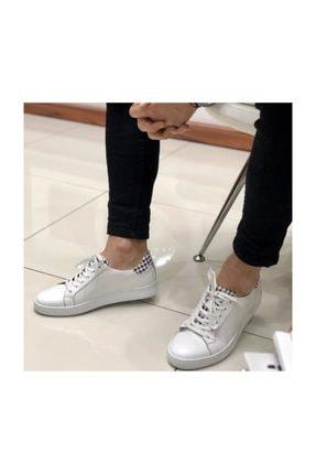 TETRİ Beyaz Deri Ayakkabı
