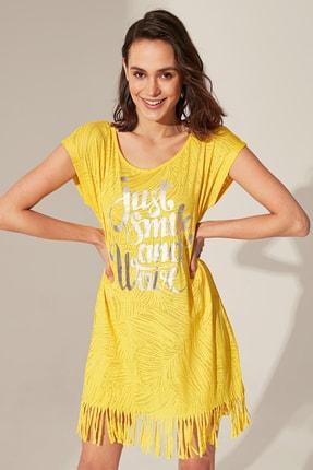 LC Waikiki Kadın Sarı Elbise 0S2841Z8