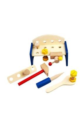 Wooden Toys Ahşap Oyuncak Tezgahlı Tamir Seti Work Table