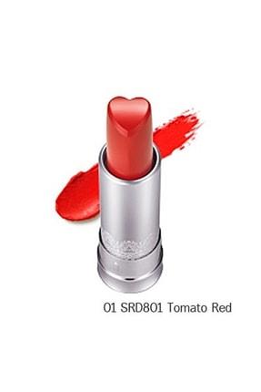 Holika Holika Heartfull Silky Lipstick 01-srd801 Tomato Red Mat Ruj
