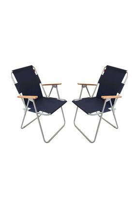 Bofigo 2 Adet Katlanır Kamp Sandalyesi Lacivert