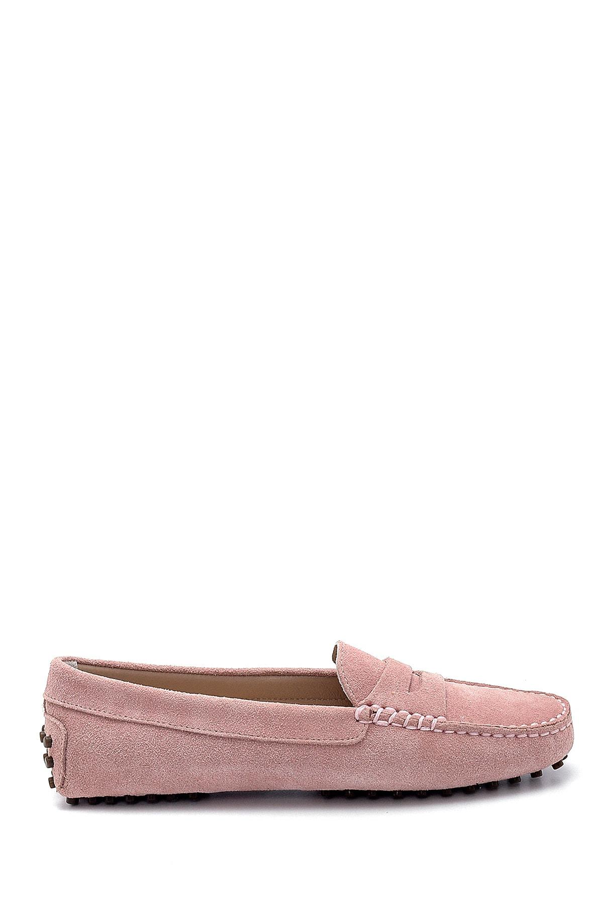 Derimod Kadın Mor Süet Loafer Ayakkabı 1
