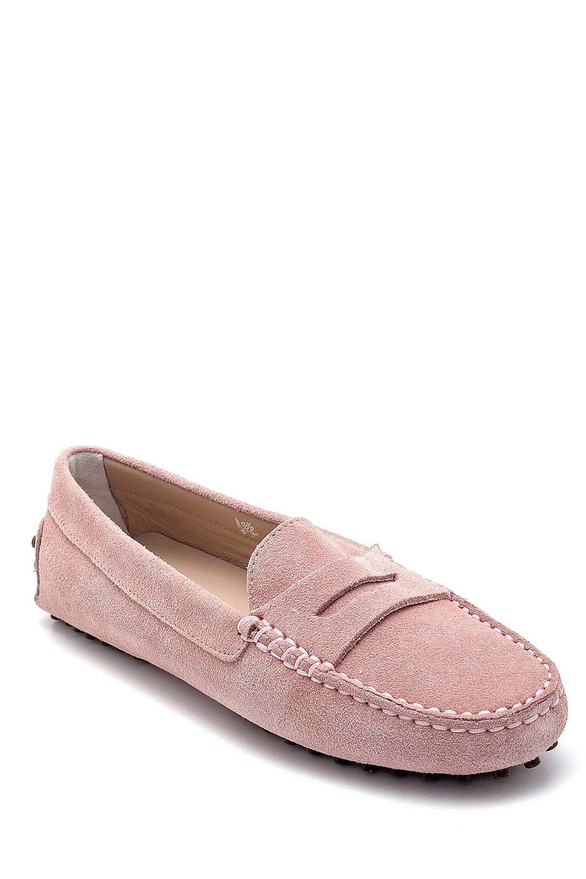 Derimod Kadın Mor Süet Loafer Ayakkabı 2