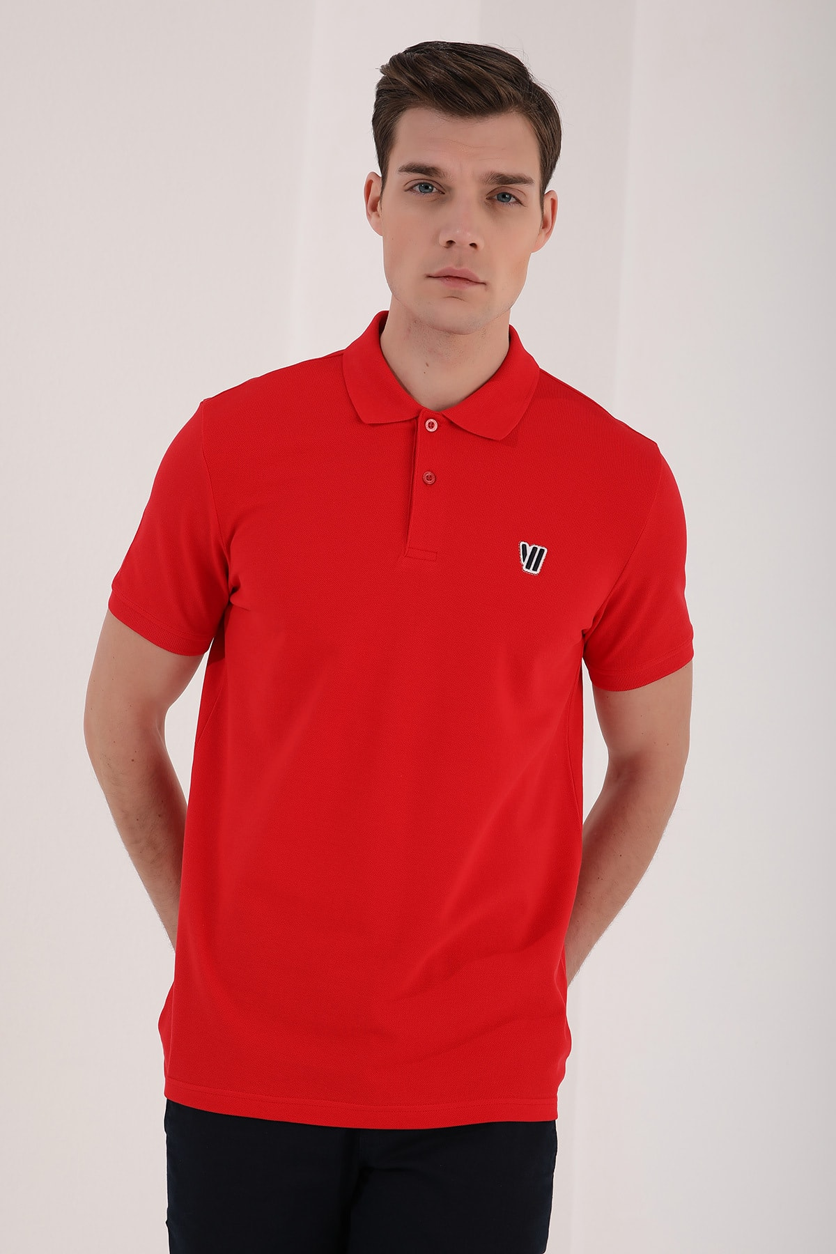 Tommy Life Klasik Polo Yaka Kırmızı Erkek Tshirt T08ER-87768 1