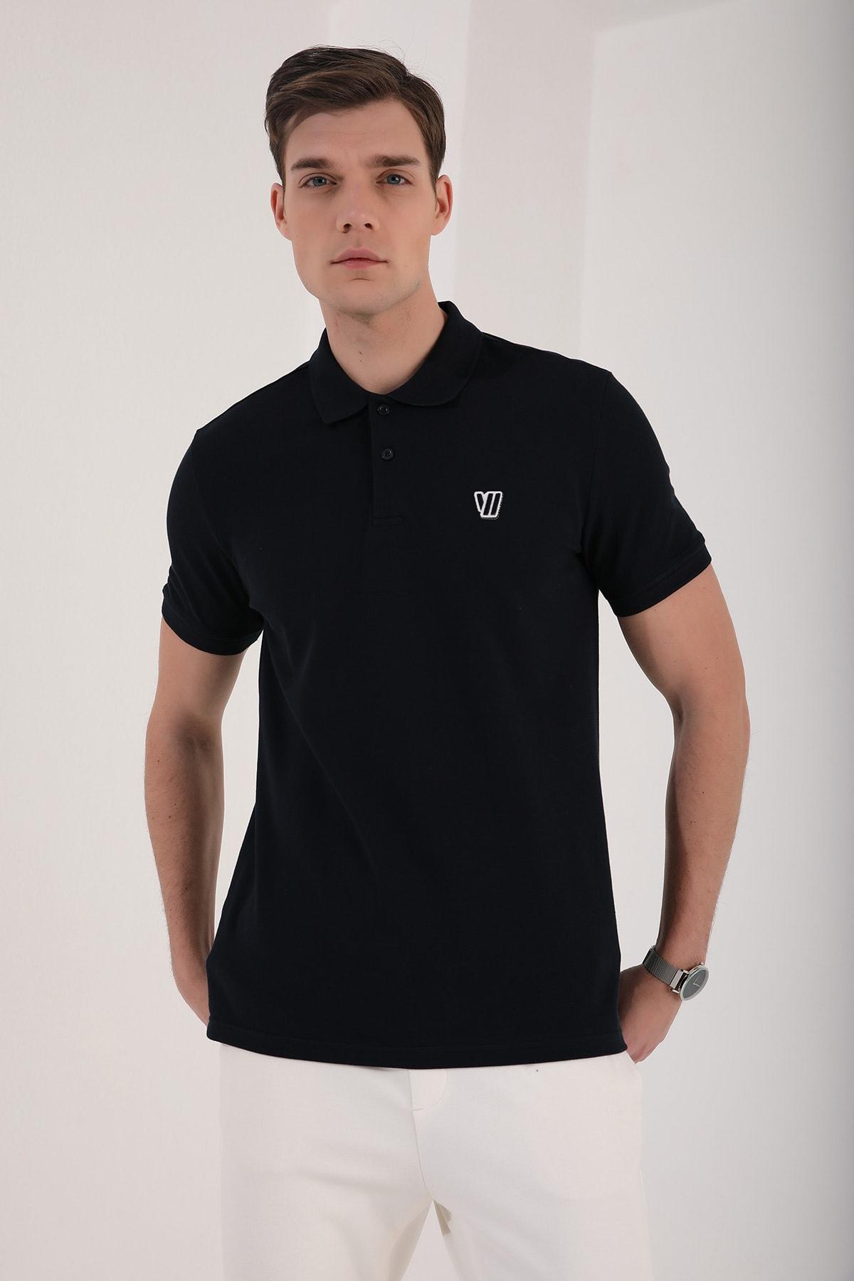 Tommy Life Klasik Polo Yaka Lacivert Erkek Tshirt T08ER-87768 1