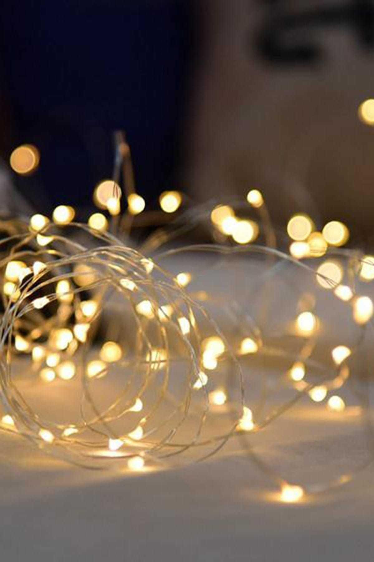 Parti dolabı 5 Metre Pilli Peri Led Tel Led Işık Dekoratif Led Aydınlatma Süs