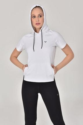 bilcee Beyaz Kadın Kapüşonlu Sweat GS-8047