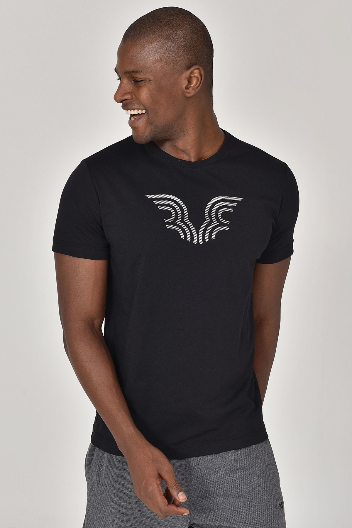 bilcee Siyah Erkek T-shirt  GS-8814 1