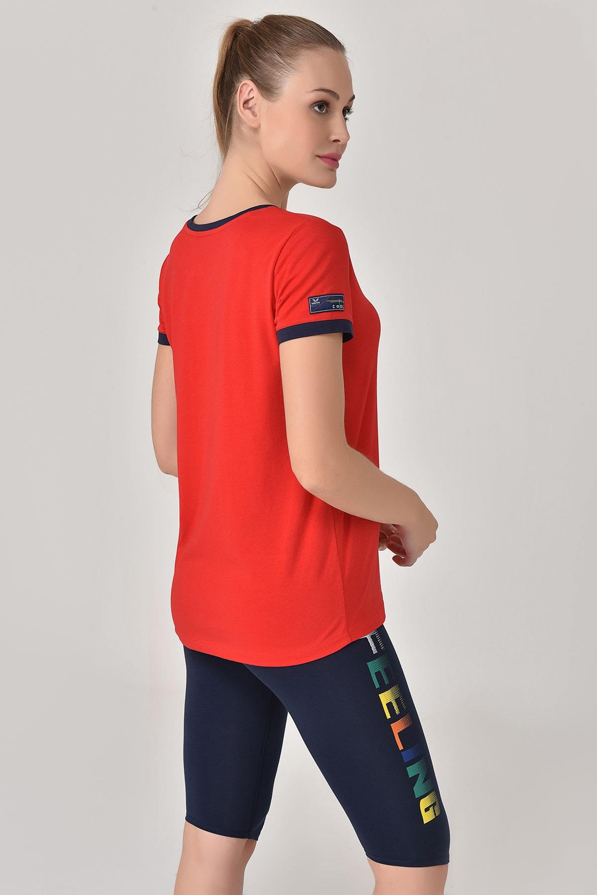 bilcee Kırmızı Kadın T-shirt  GS-8070 2