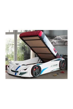 Setay Merso Eko Bazalı Rüzgarlıklı Arabalı Yatak Beyaz
