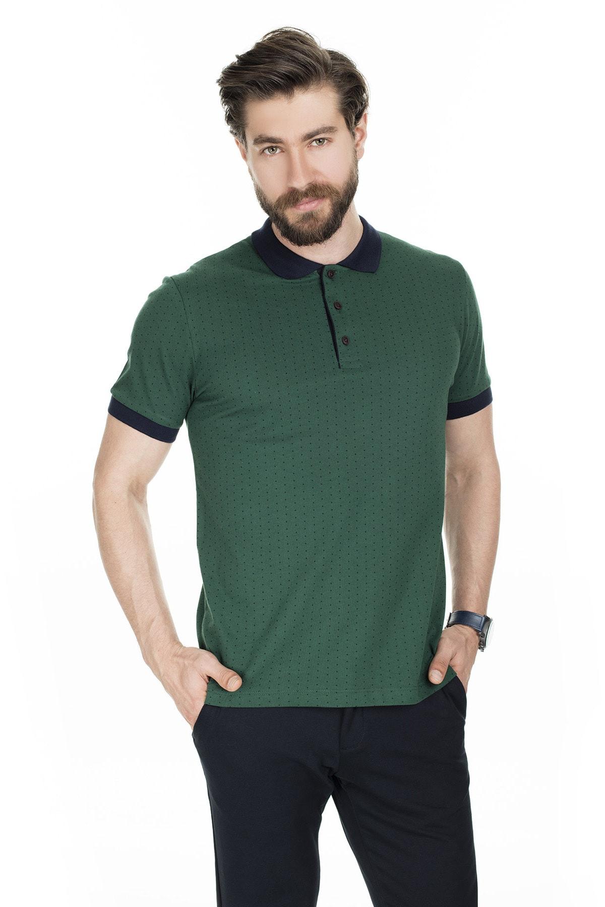 Buratti Erkek Nefti Düğmeli Polo Yaka Pamuklu Günlük T Shirt 43617080