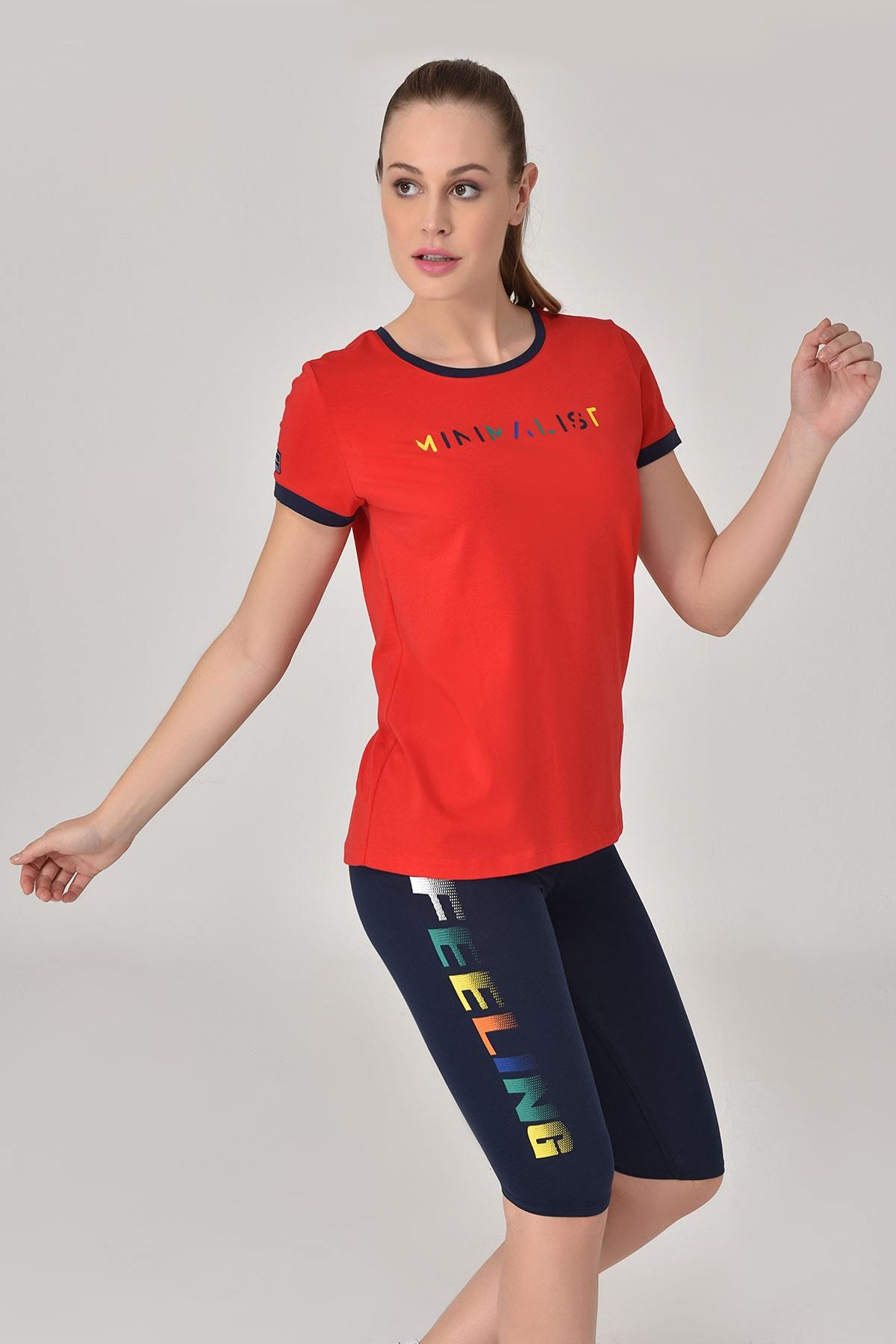 bilcee Kırmızı Kadın T-shirt  GS-8070 1