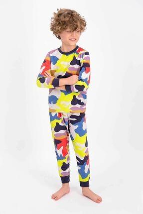 ROLY POLY Erkek Çocuk Renkli Colorful Soldier Pattern Genç Uzun Kol Pijama Takımı